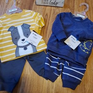 2 Infant Outfits for Boys